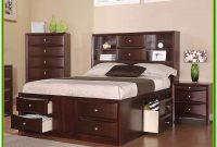 Queen Bed With Storage Drawers And Headboard