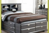 Queen Size Storage Bed With Headboard