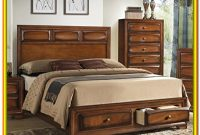 Queen Wood Bed Frame With Drawers