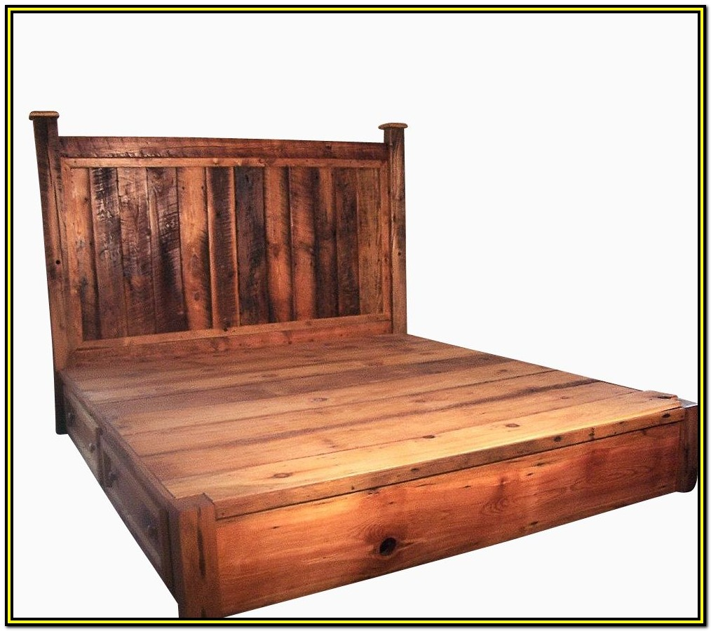 Reclaimed Wood Bed Frame Canada