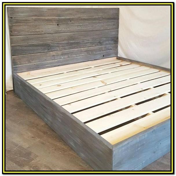 Reclaimed Wood Bed Frame Diy