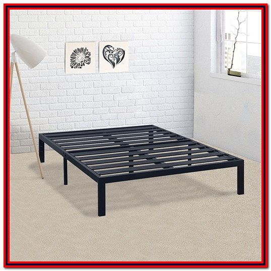 Stella Metal Platform Bed Frame King