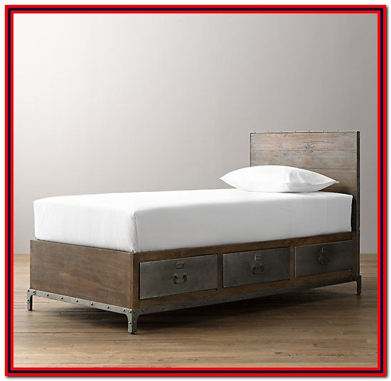Twin Bed With Storage Drawers On Both Sides