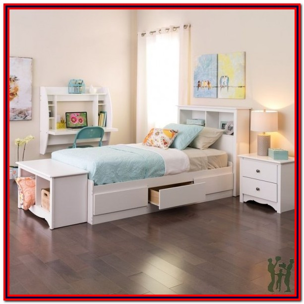 Twin Mate's Platform Storage Bed With 3 Drawers