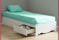 Twin Size Platform Bed With Storage Drawers