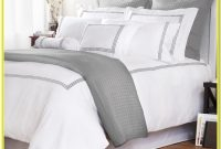 White And Gray Bed Sheets