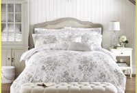 White And Gray Floral Bedding