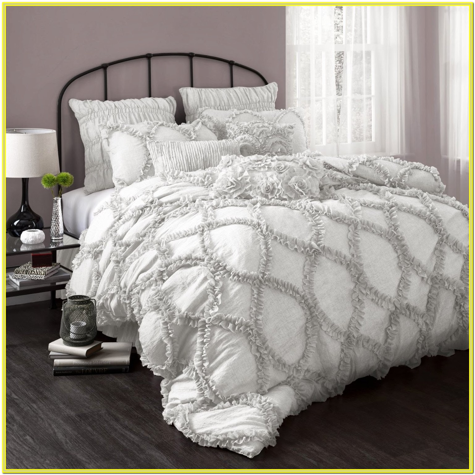 White And Grey Comforter Set Queen