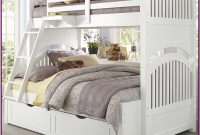 White Bunk Bed Twin Over Full With Trundle