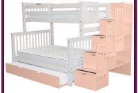 White Bunk Beds Twin Over Full With Drawers