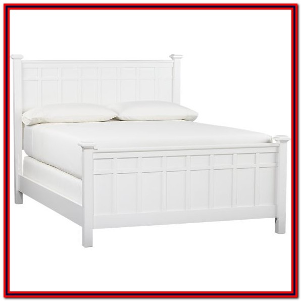 White Queen Bed Frame With Headboard And Storage