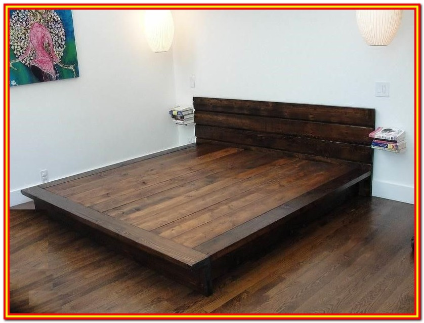 Wood Bed Frame Queen Diy