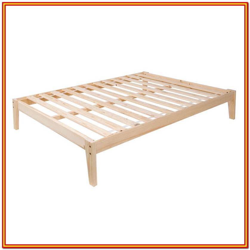 Wood Bed Frame Queen Plans