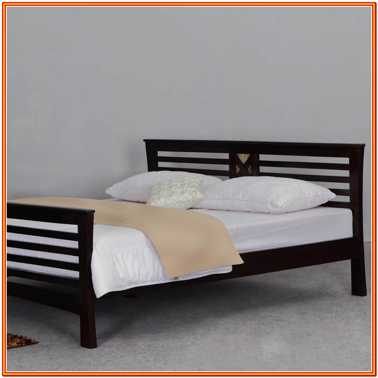 Wood Bed Frame Queen With Headboard