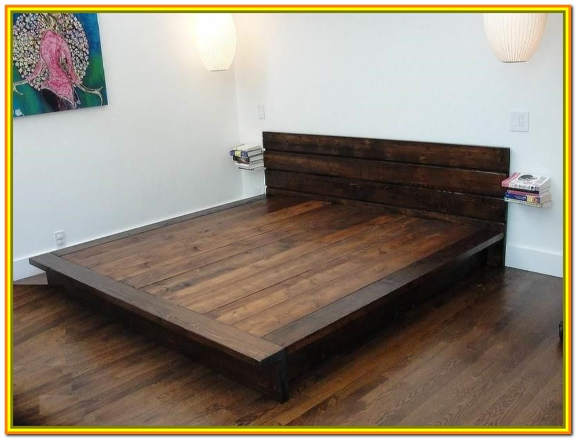 Wood Queen Bed Frame Plans Free