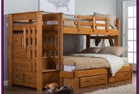 Wooden Bunk Beds Twin Over Full With Drawers