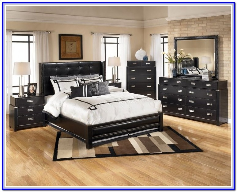 Ashley Furniture White Bed Set