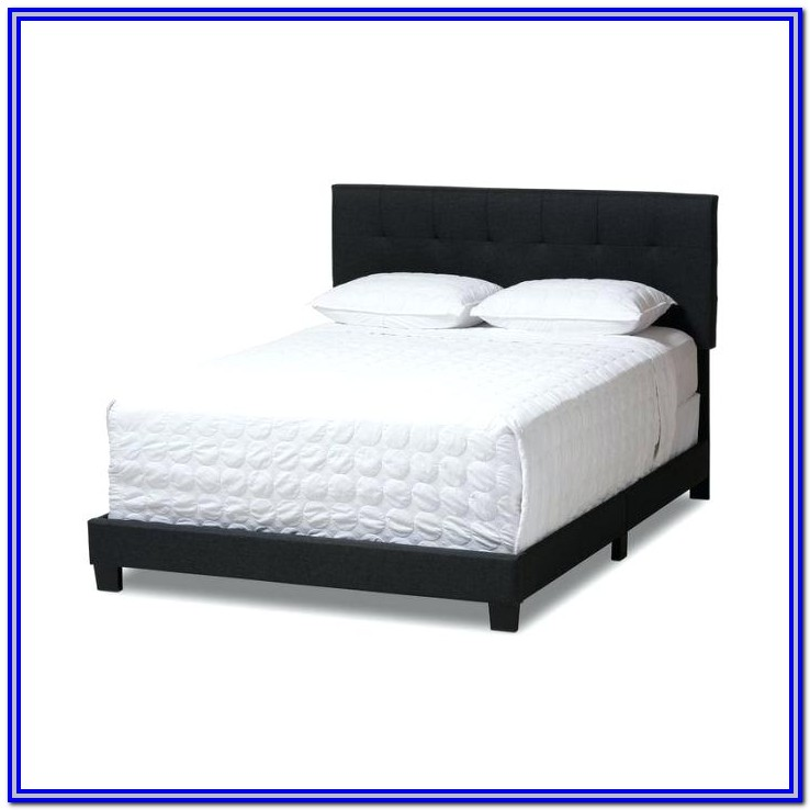 Baxton Studio Hirst Platform Bed King Gray