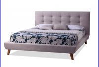 Baxton Studio King Jessie Upholstered Platform Bed In Grey