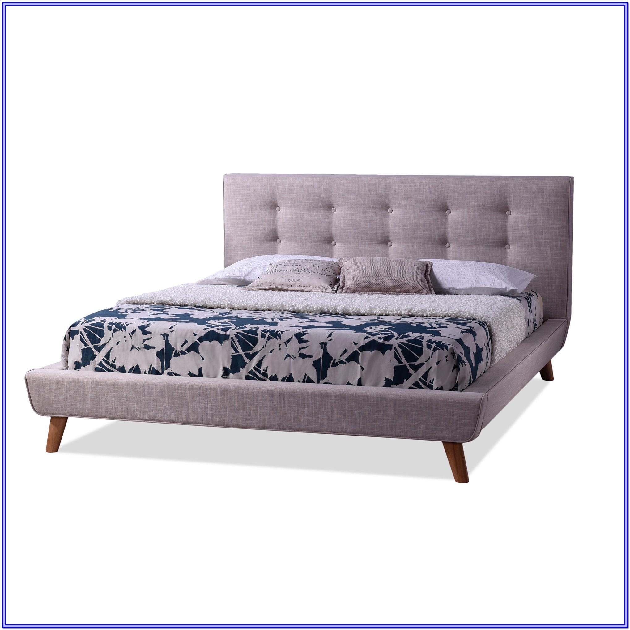 Baxton Studio King Jessie Upholstered Platform Bed In Grey