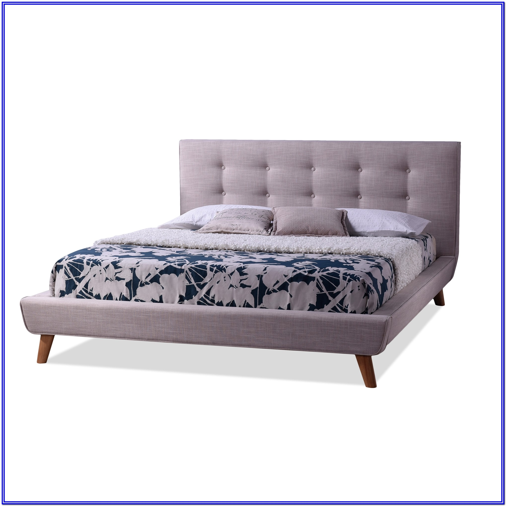 Baxton Studio King Size Bed
