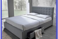 Baxton Studio Marguerite Linen Modern Platform Bed King Gray