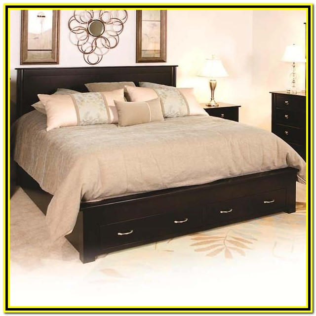 Cal King Bed Frame With Storage Drawers