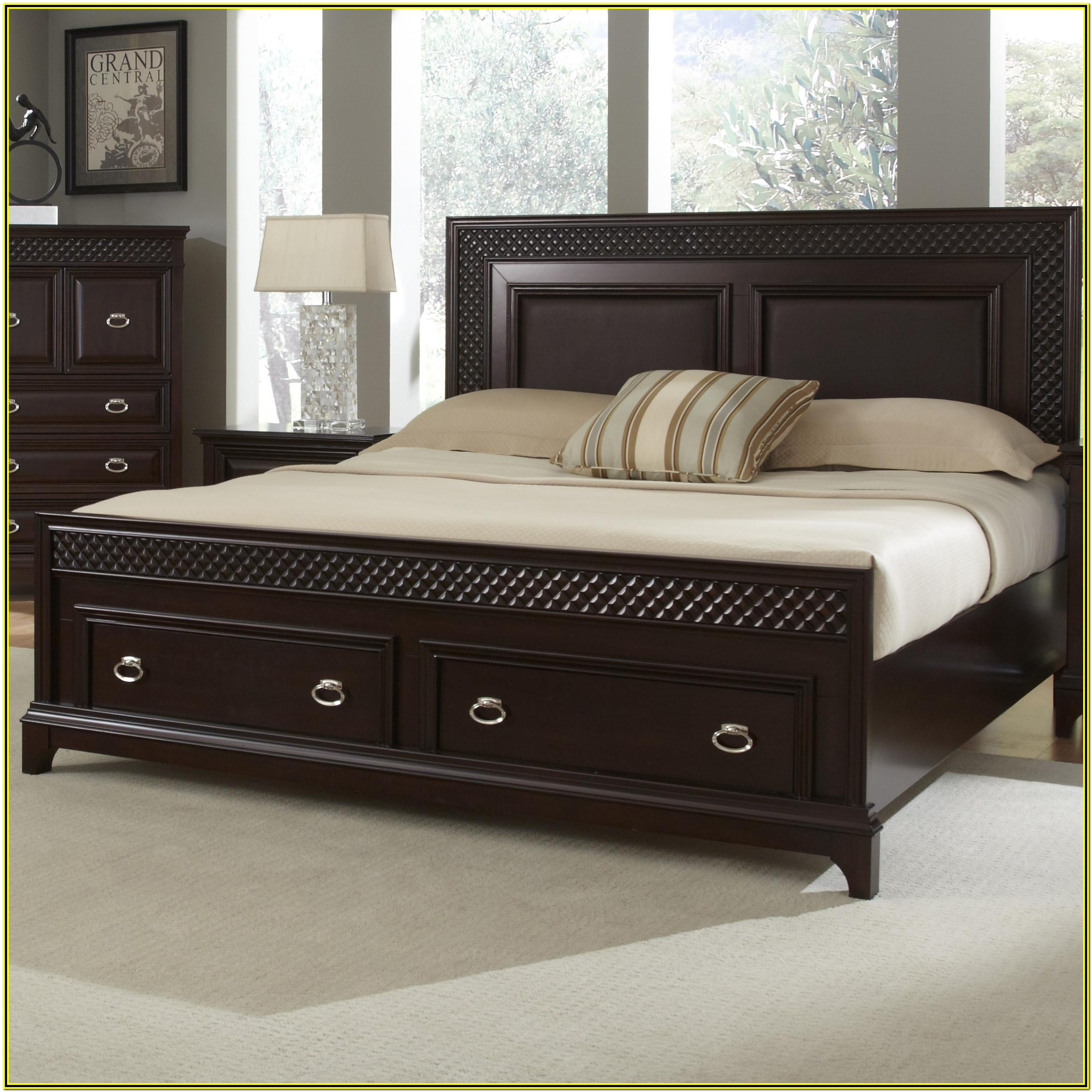 California King Bed Frame With Drawers