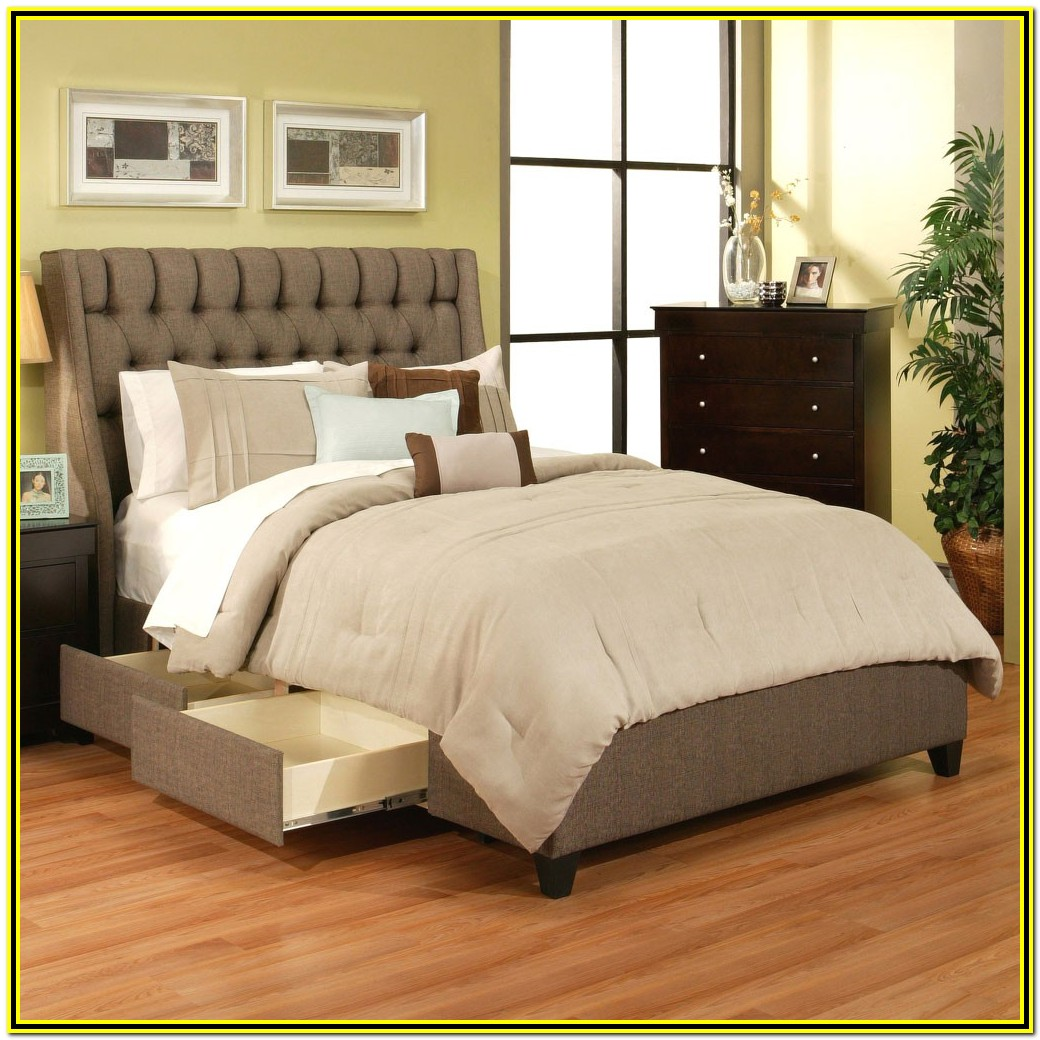 California King Bed Frame With Storage Headboard