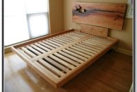 Diy King Size Platform Bed With Storage And Headboard