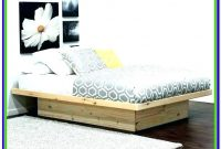 Full Size Black Platform Bed With Headboard