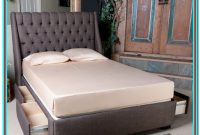 Full Size Upholstered Platform Bed With Storage