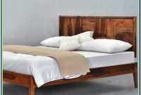 Full Size Wood Platform Bed With Headboard
