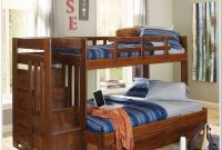 Full Twin Bunk Bed With Stairs