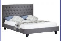 Grey Upholstered Bed Frame King