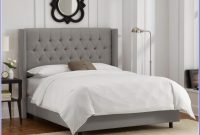 Grey Upholstered Bed Frame Single