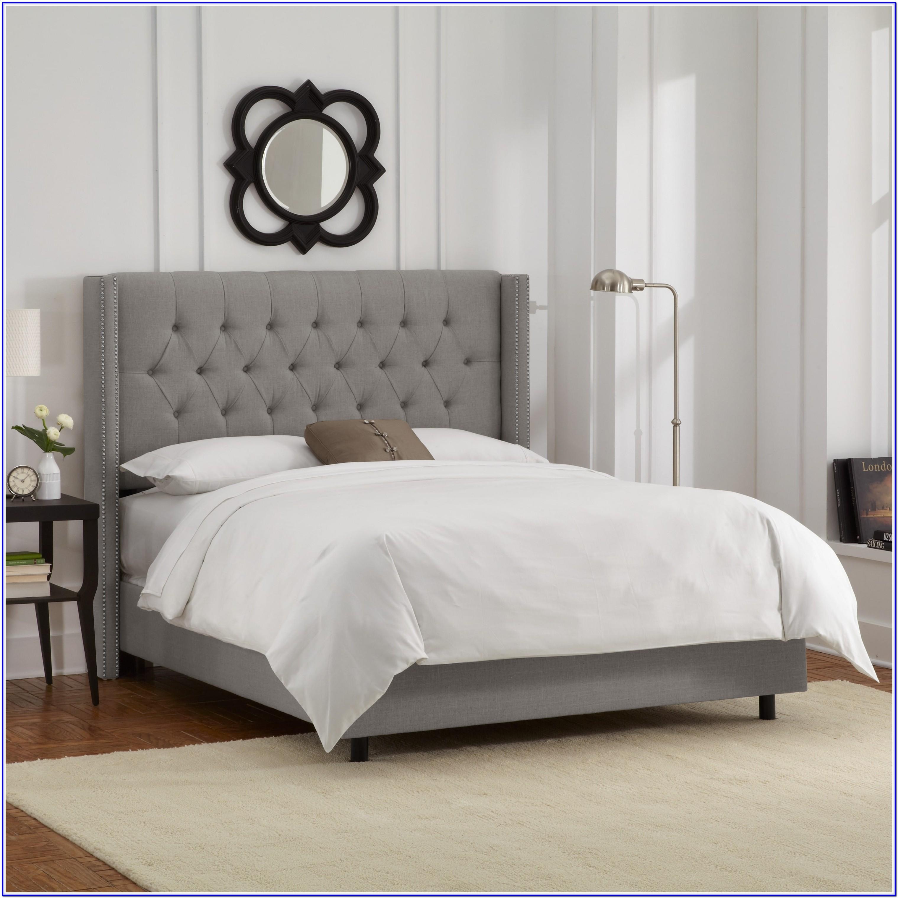 Grey Upholstered Bed Frame Single