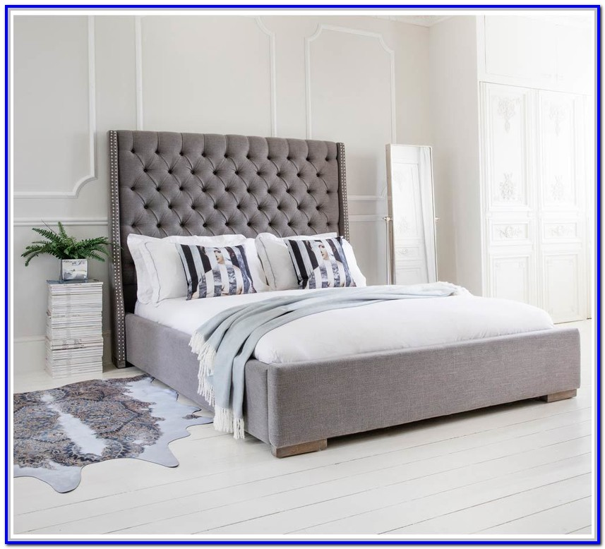 Grey Upholstered Bed Frame Uk