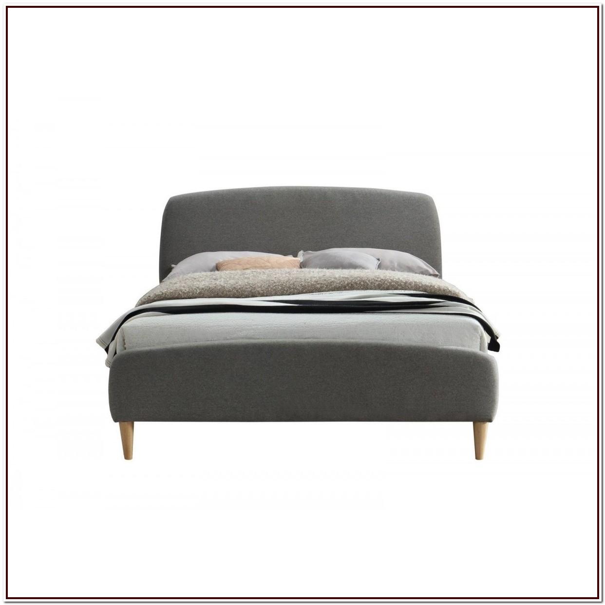 Grey Upholstered King Bed Frame