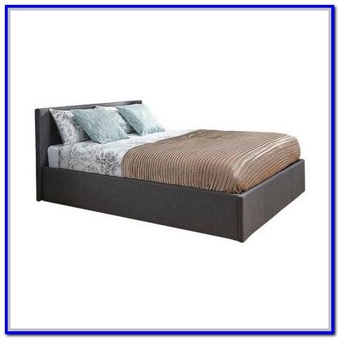 Hygena Heathdon Grey Fabric Ottoman Small Double Bed Frame