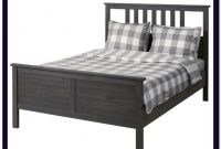 Ikea Hemnes Queen Bed Frame Black Brown Wood