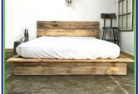 Intellibase Queen Wooden Slat Platform Bed Frame With Headboard