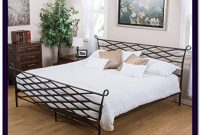 Iron Bed Frame Queen Black
