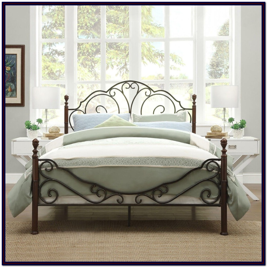 Iron Bed Frame Queen Metal Frame