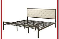 King Metal Platform Bed Frame With Headboard