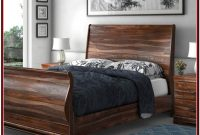King Platform Bed Frame Real Wood