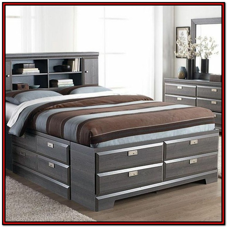 King Size Bed Frame With Storage Underneath