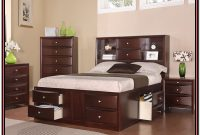 King Size Captains Bed With Bookcase Headboard