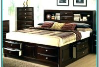 King Size Platform Bed With Tall Headboard