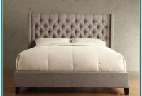 King Size Platform Bed With Tufted Headboard